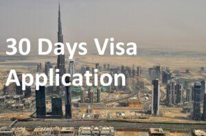 30 Days Visa Application