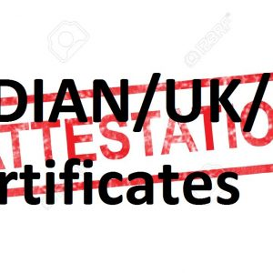 INDIAN/UK/USA certificates