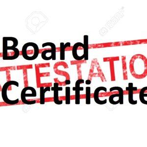 Board Certificates