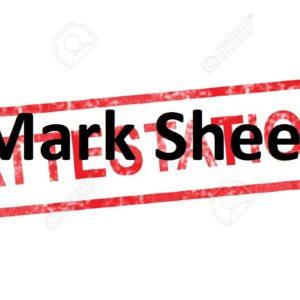 Mark Sheets