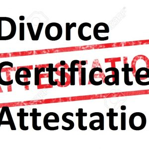Divorce Certificate Attestation