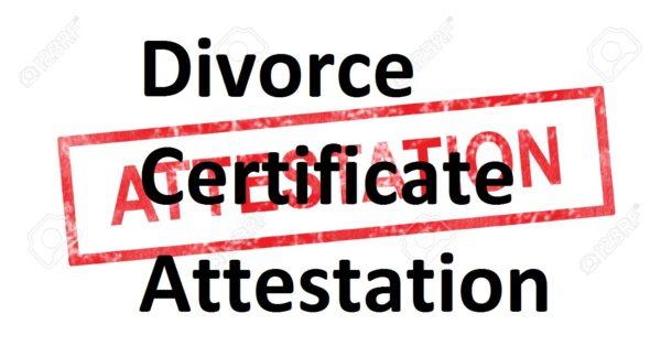 Divorce Certificate Attestation