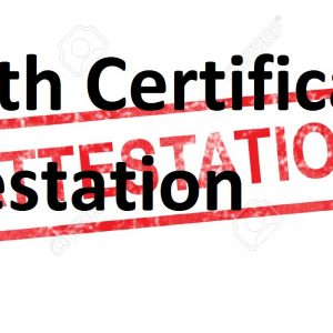 Death Certificate Attestation